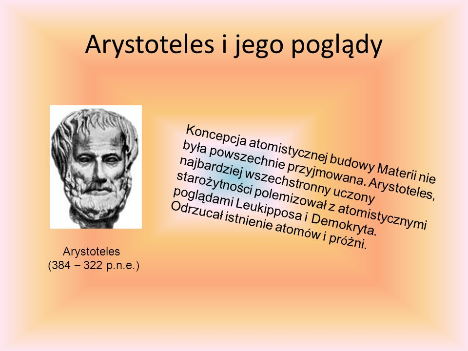 Arystoteles i jego poglądy