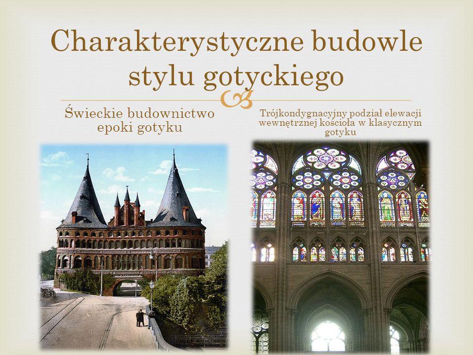 Charakterystyczne budowle stylu gotyckiego