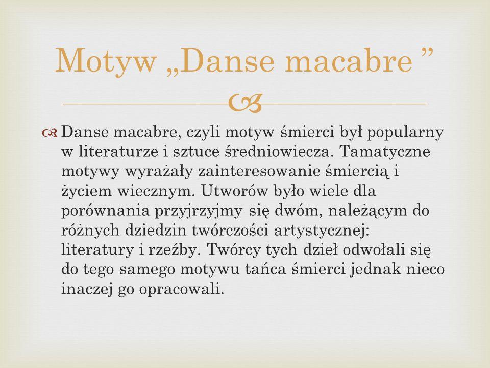 """Motyw """"Danse macabre"""