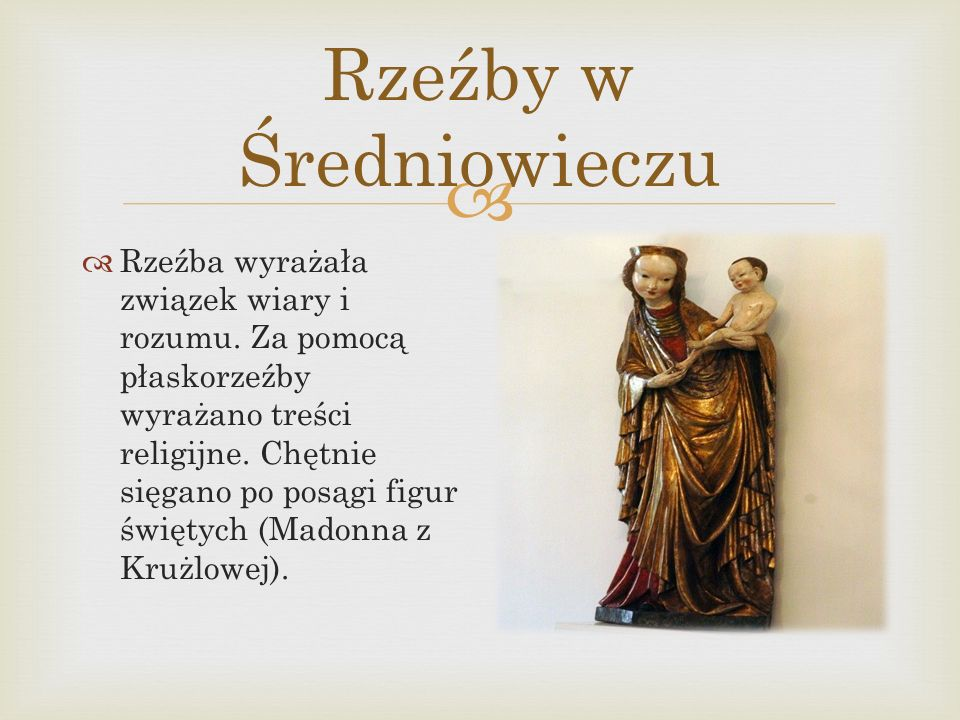 Rzeźby w Średniowieczu