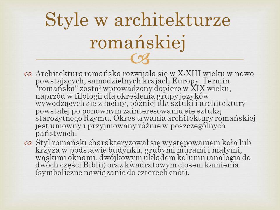 Style w architekturze romańskiej