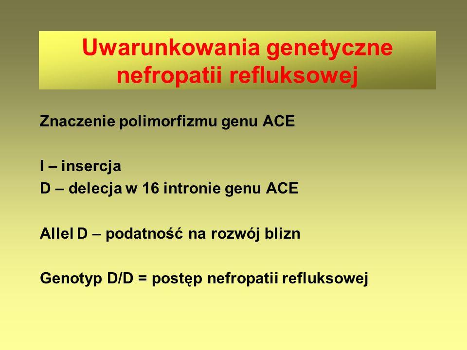 Uwarunkowania genetyczne nefropatii refluksowej