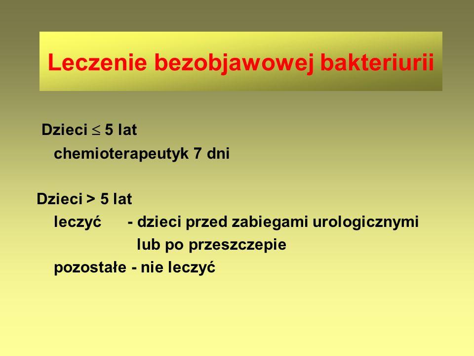 Leczenie bezobjawowej bakteriurii
