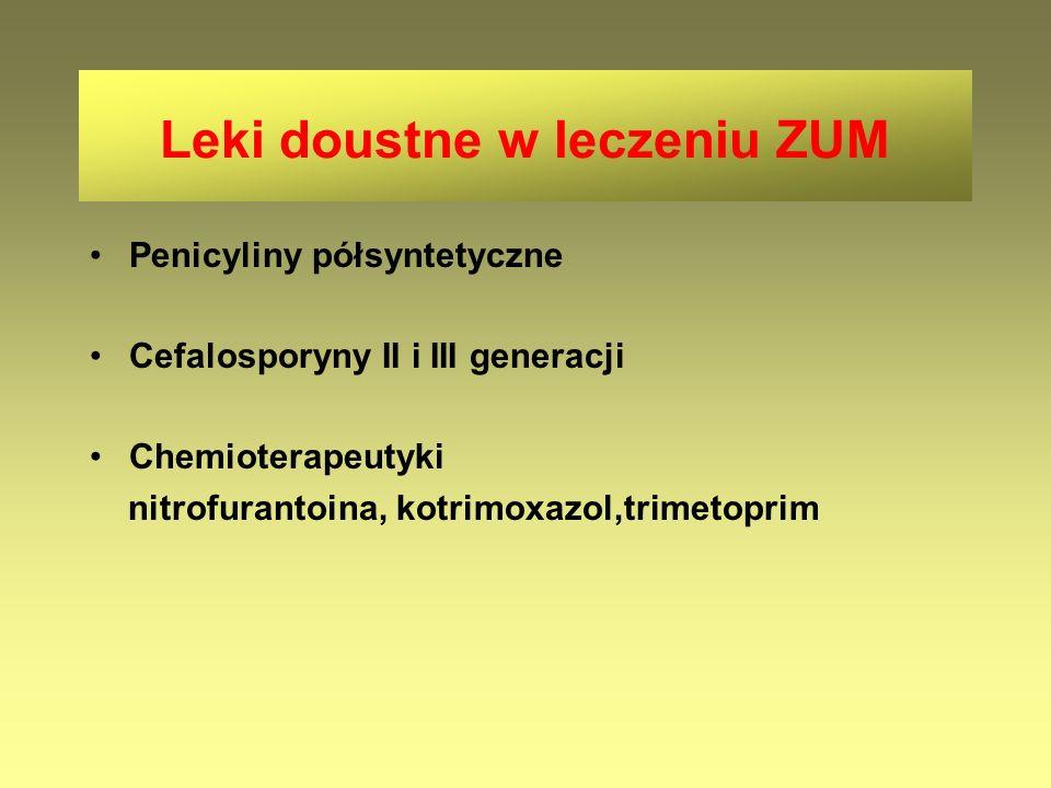 Leki doustne w leczeniu ZUM