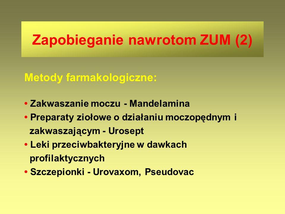 Zapobieganie nawrotom ZUM (2)