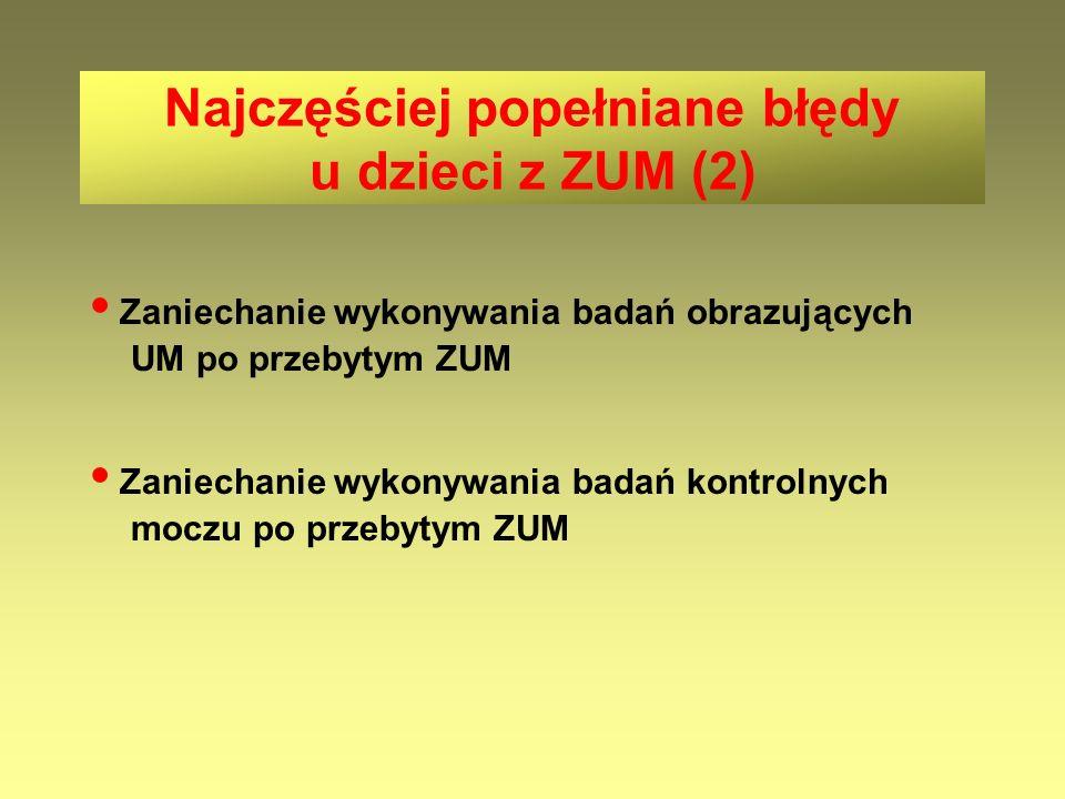 Najczęściej popełniane błędy u dzieci z ZUM (2)