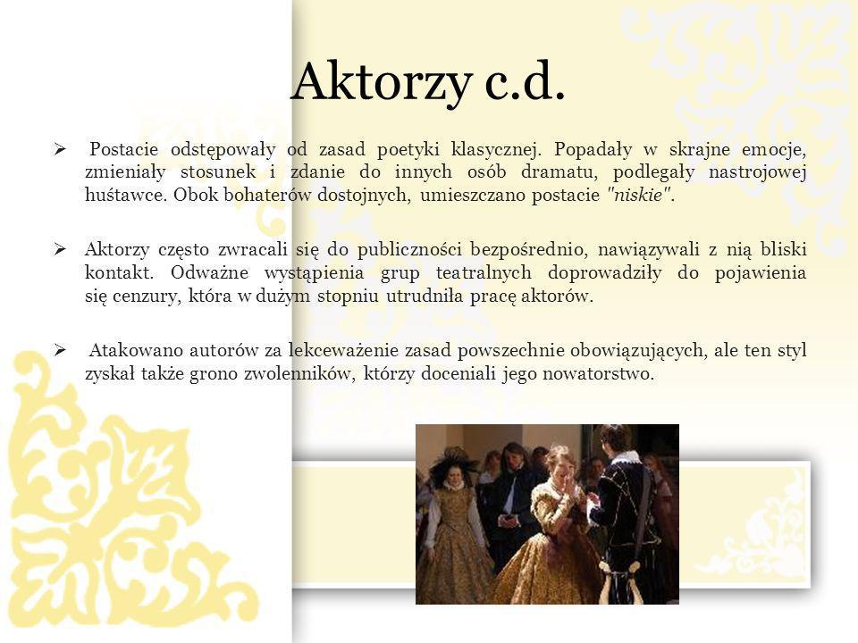 Aktorzy c.d.