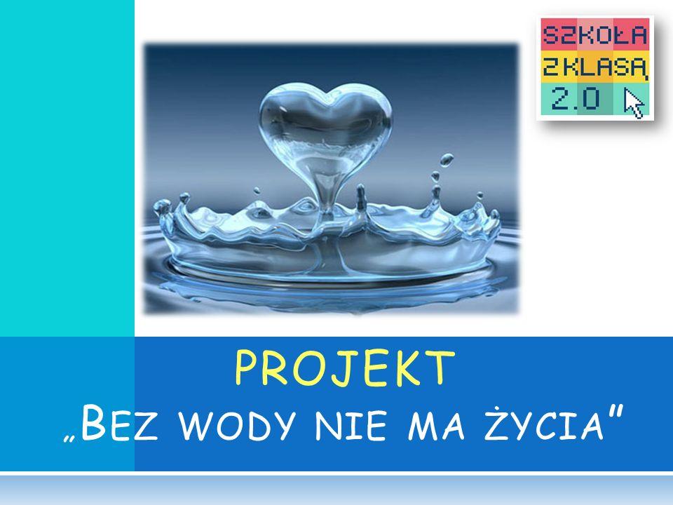 """PROJEKT """"Bez wody nie ma życia"""