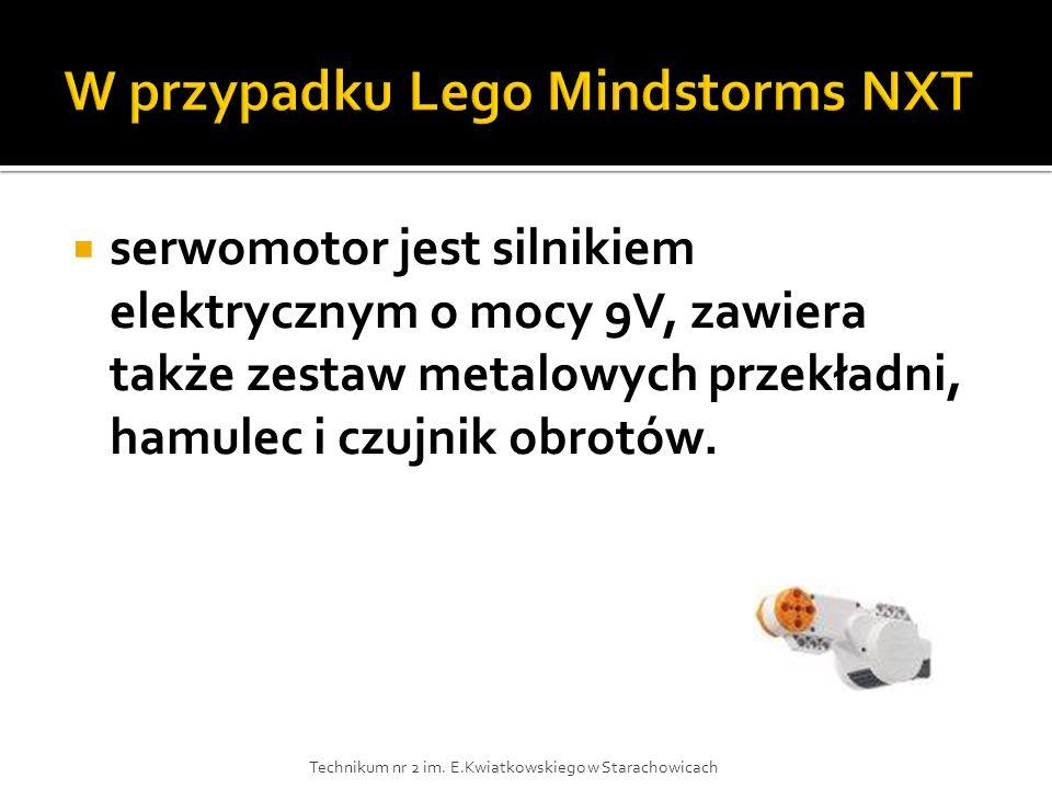 W przypadku Lego Mindstorms NXT