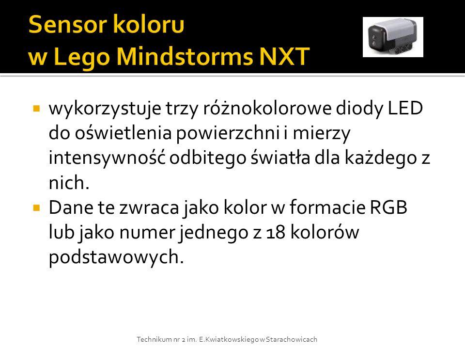 Sensor koloru w Lego Mindstorms NXT