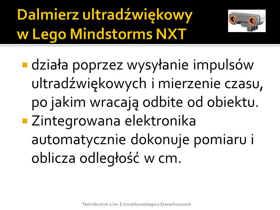 Dalmierz ultradźwiękowy w Lego Mindstorms NXT