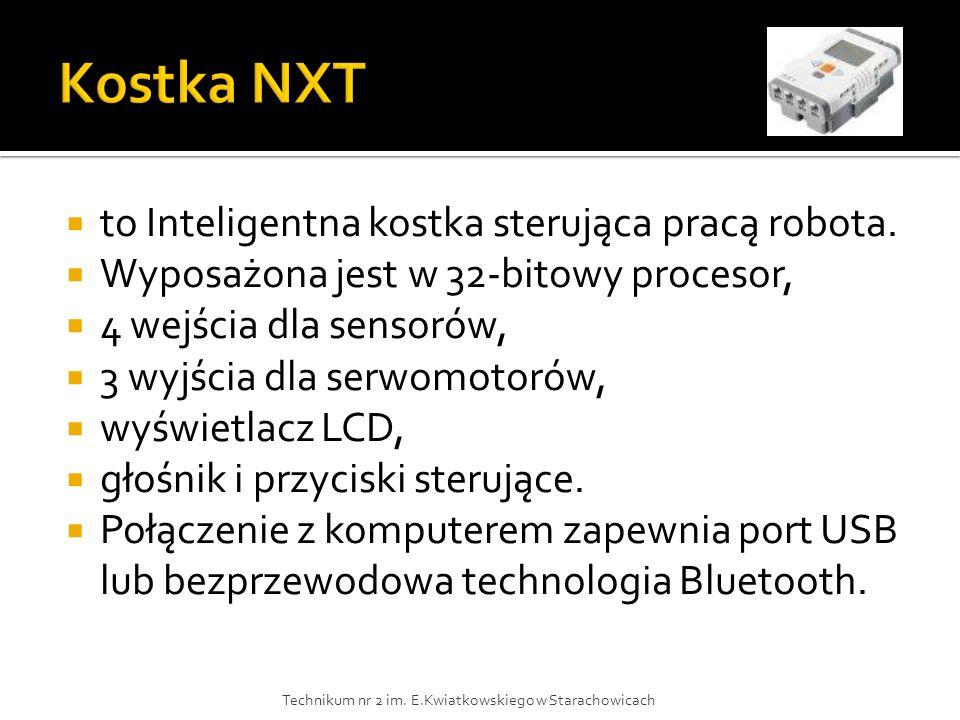 Kostka NXT to Inteligentna kostka sterująca pracą robota.