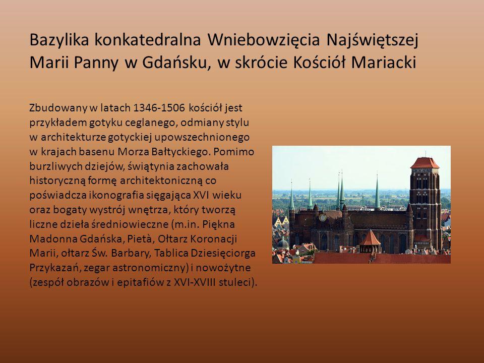 Bazylika konkatedralna Wniebowzięcia Najświętszej Marii Panny w Gdańsku, w skrócie Kościół Mariacki