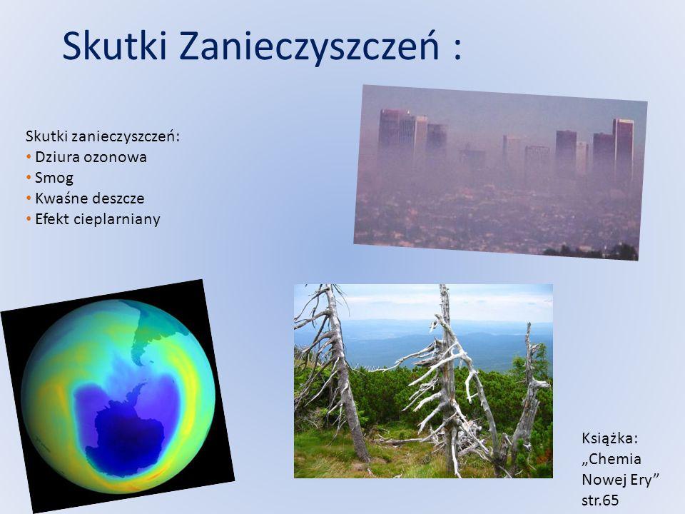 Skutki Zanieczyszczeń :