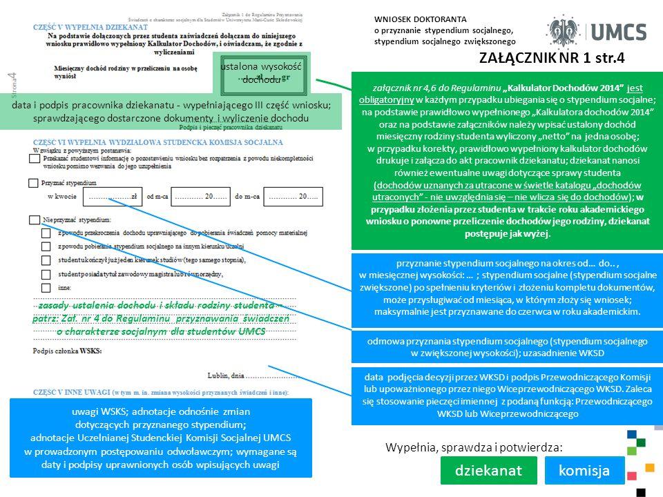 zasady ustalenia dochodu i składu rodziny studenta –