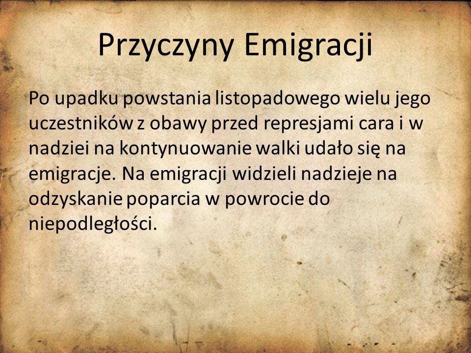 Przyczyny Emigracji