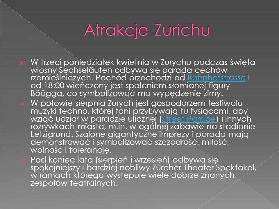 Atrakcje Zurichu