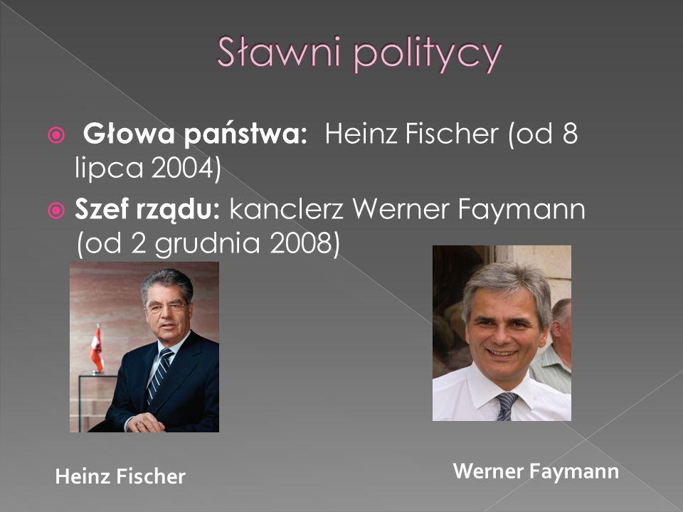 Sławni politycy Głowa państwa: Heinz Fischer (od 8 lipca 2004)