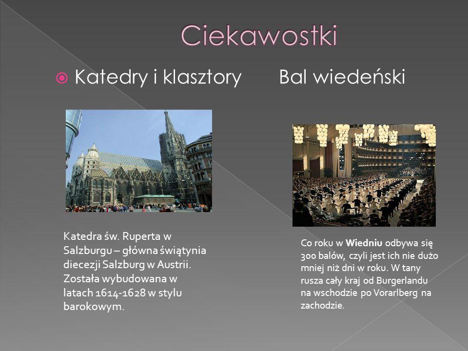 Ciekawostki Katedry i klasztory Bal wiedeński