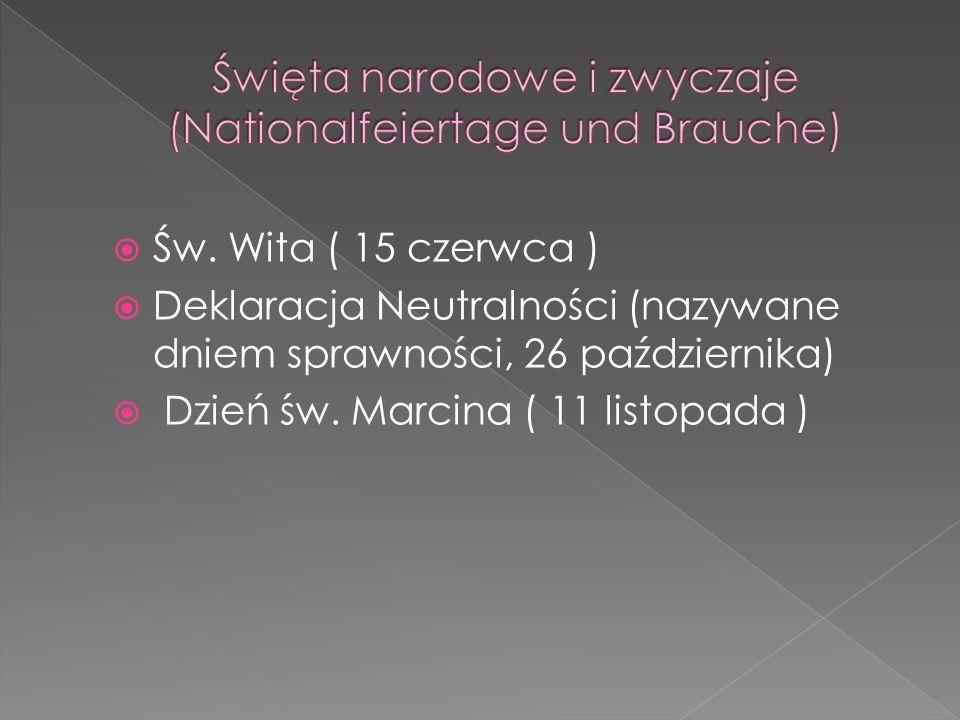 Święta narodowe i zwyczaje (Nationalfeiertage und Brauche)