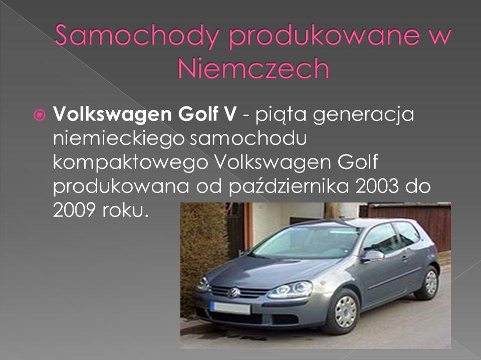 Samochody produkowane w Niemczech