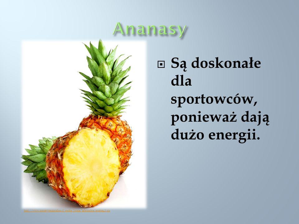 Ananasy Są doskonałe dla sportowców, ponieważ dają dużo energii.