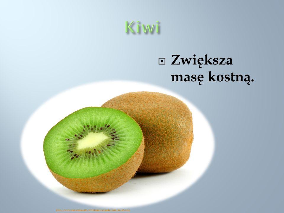 Kiwi Zwiększa masę kostną.