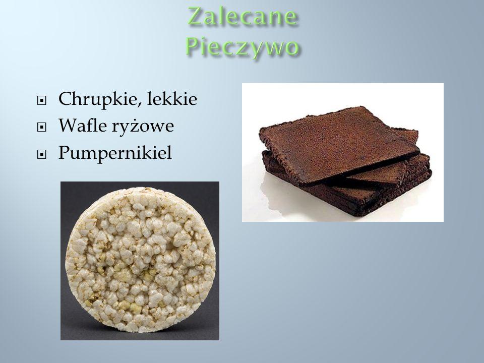 Zalecane Pieczywo Chrupkie, lekkie Wafle ryżowe Pumpernikiel