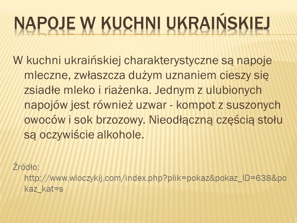 Napoje w kuchni ukraińskiej