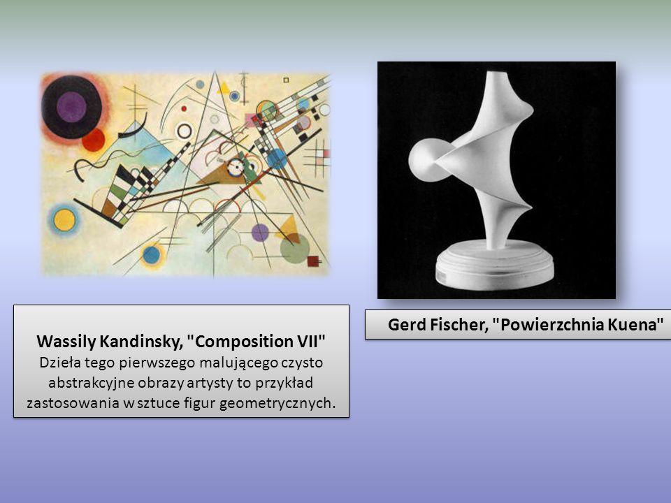 Wassily Kandinsky, Composition VII Dzieła tego pierwszego malującego czysto abstrakcyjne obrazy artysty to przykład zastosowania w sztuce figur geometrycznych.