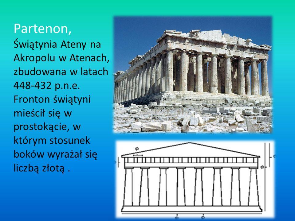 Partenon, Świątynia Ateny na Akropolu w Atenach, zbudowana w latach 448-432 p.n.e.