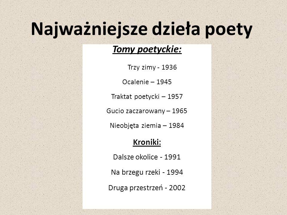 Najważniejsze dzieła poety