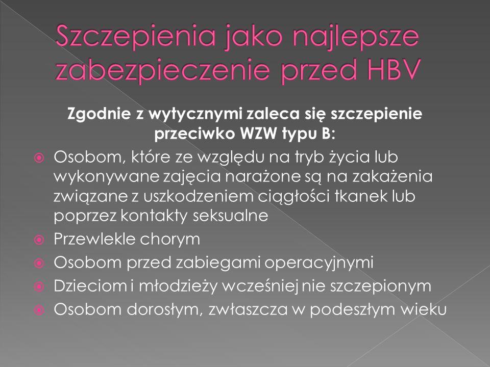 Szczepienia jako najlepsze zabezpieczenie przed HBV