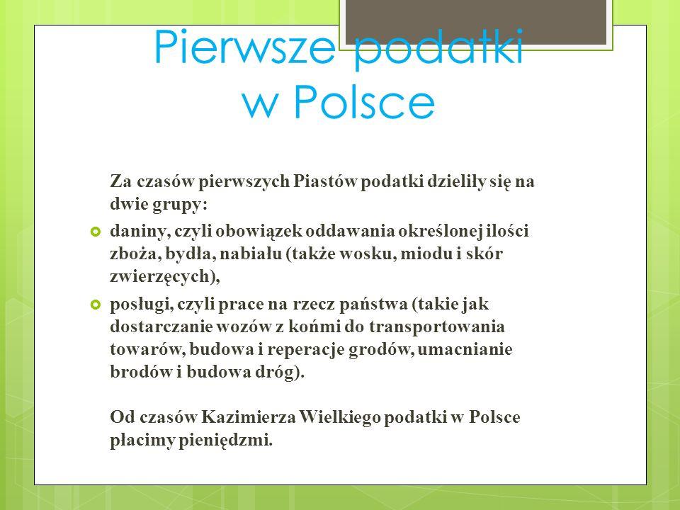 Pierwsze podatki w Polsce