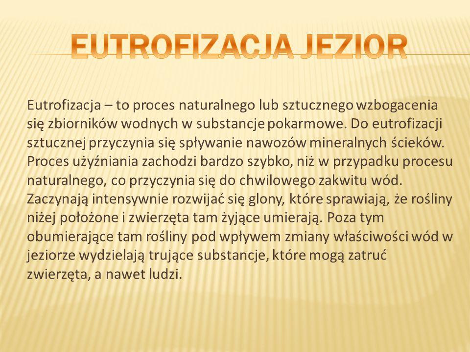 EUTROFIZACJA JEZIOR