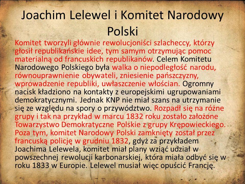Joachim Lelewel i Komitet Narodowy Polski