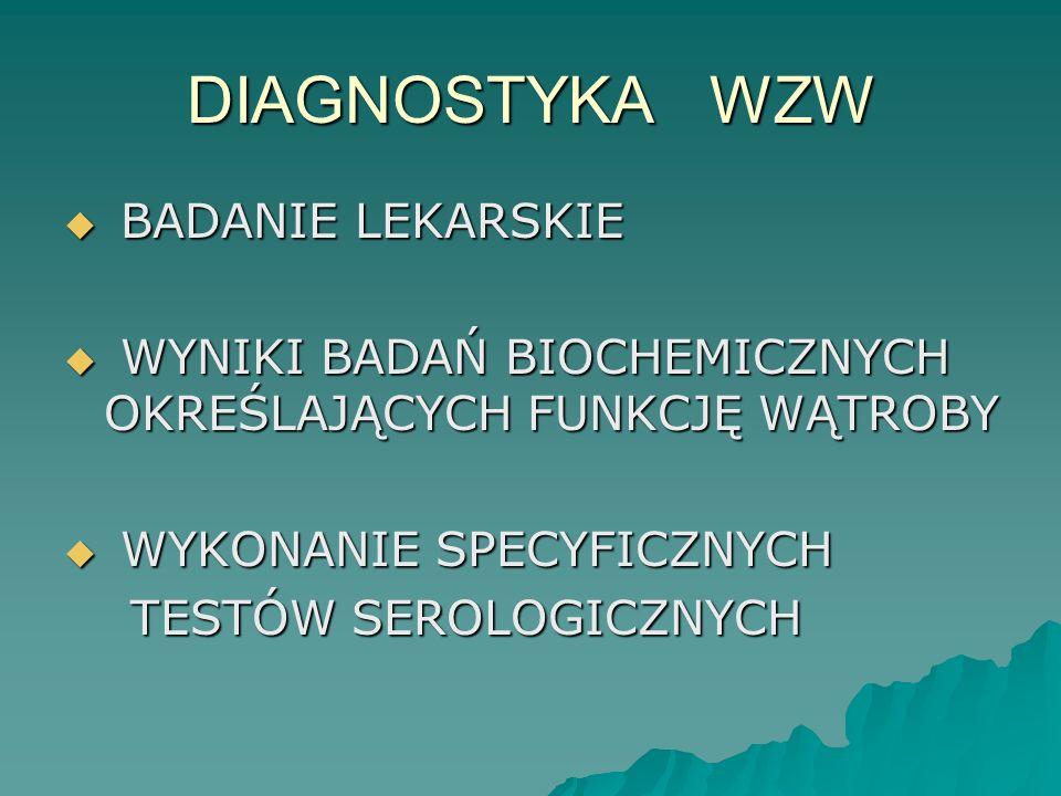 DIAGNOSTYKA WZW BADANIE LEKARSKIE