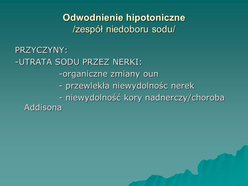 Odwodnienie hipotoniczne /zespół niedoboru sodu/