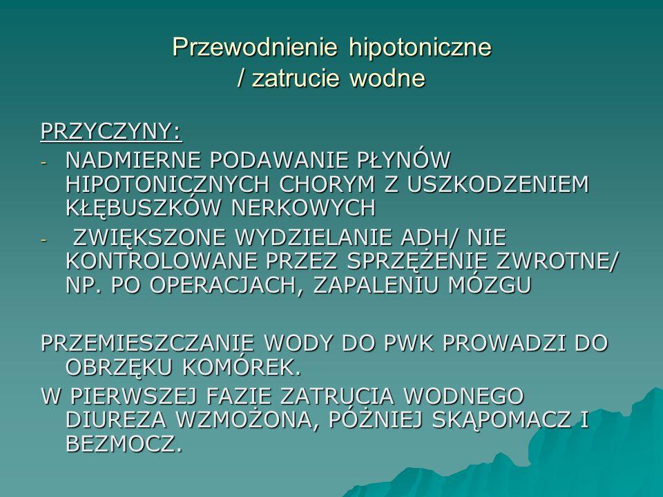 Przewodnienie hipotoniczne / zatrucie wodne