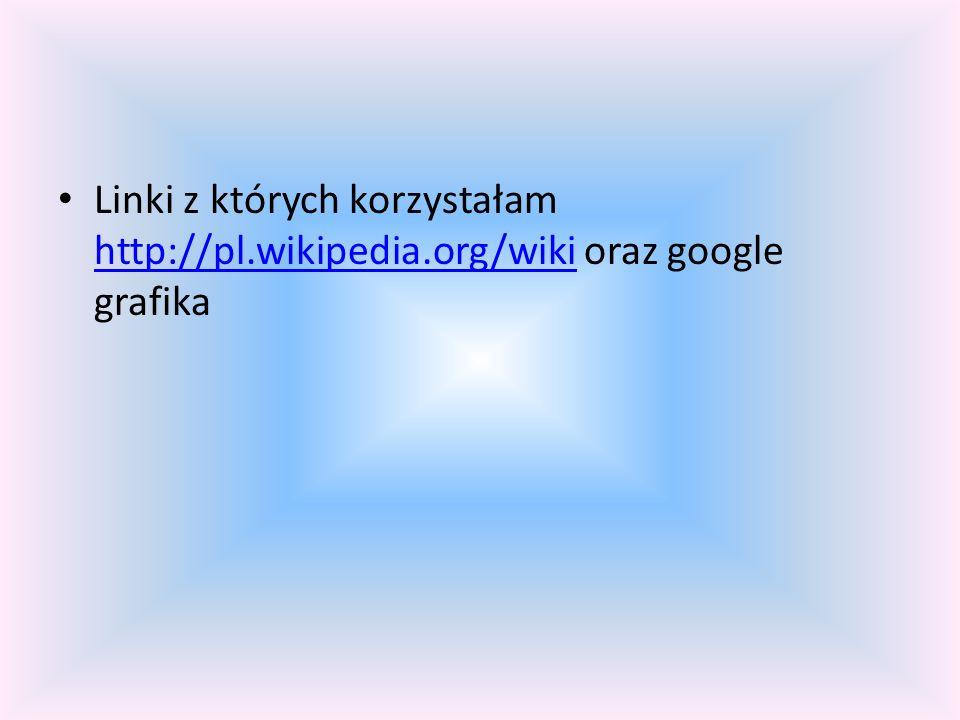 Linki z których korzystałam http://pl. wikipedia