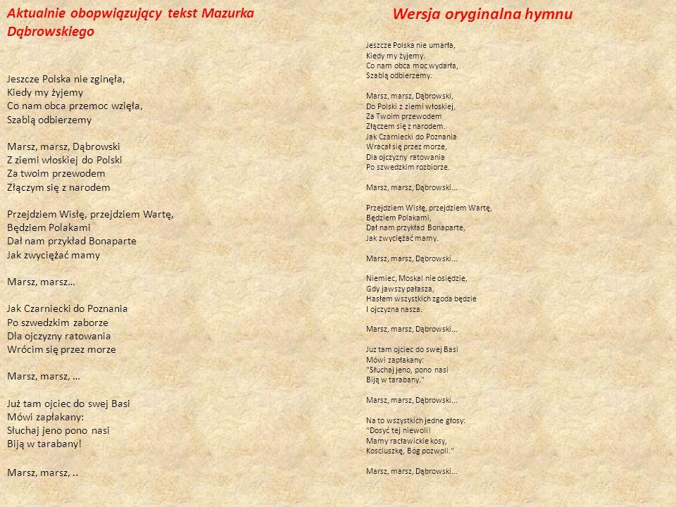 Wersja oryginalna hymnu