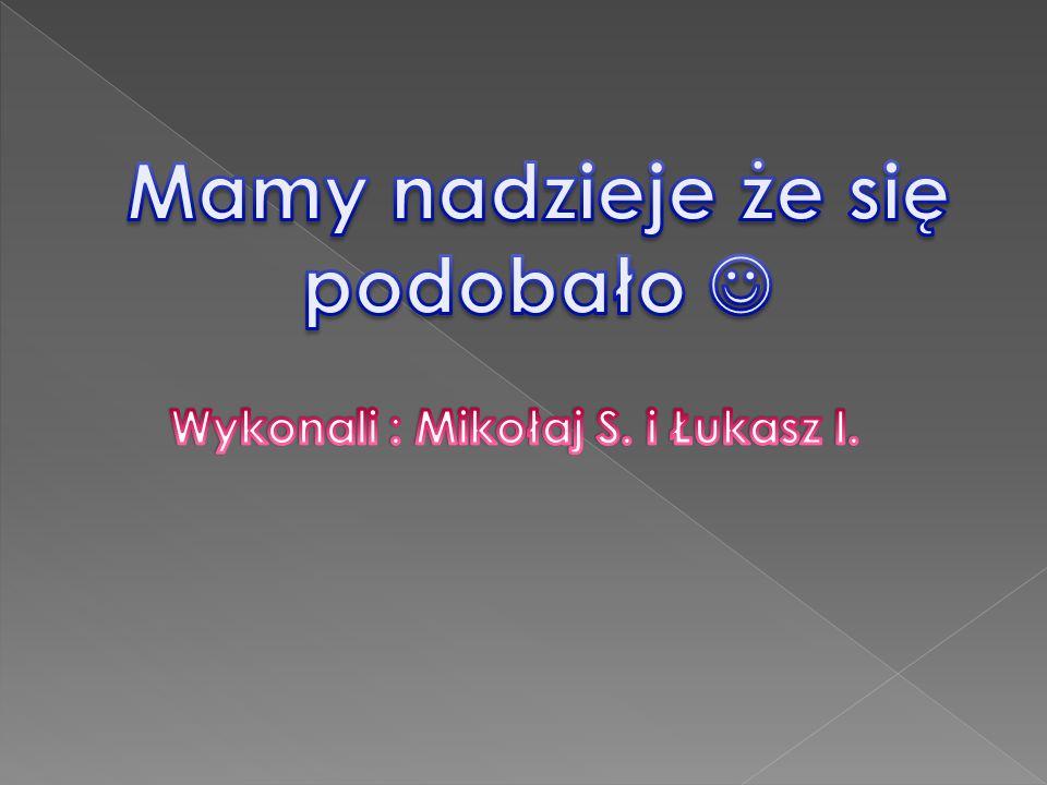 Mamy nadzieje że się podobało  Wykonali : Mikołaj S. i Łukasz I.