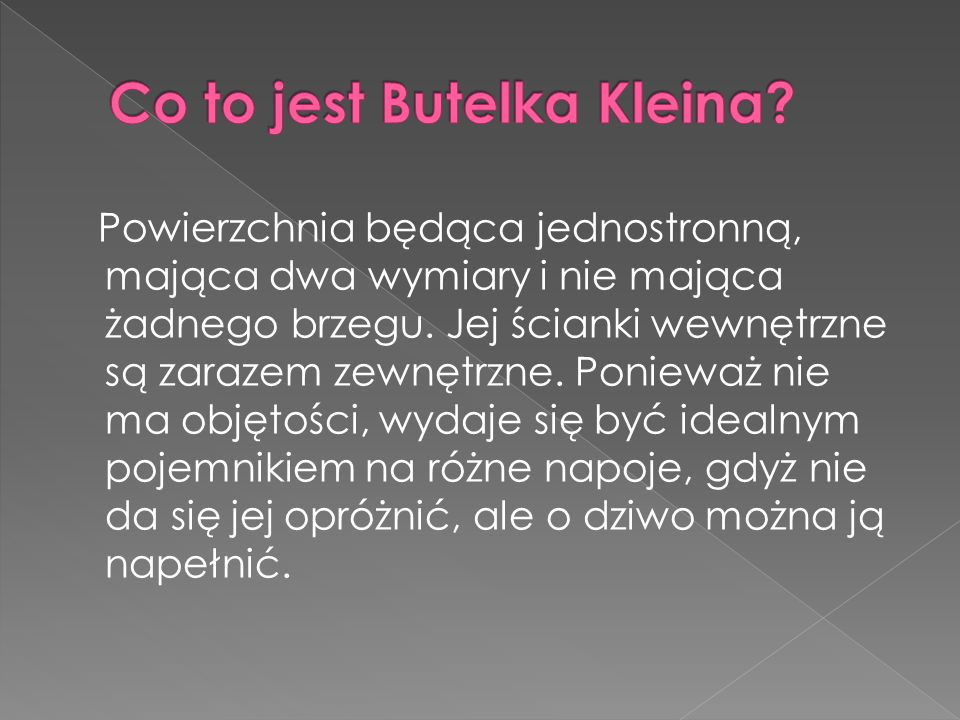 Co to jest Butelka Kleina