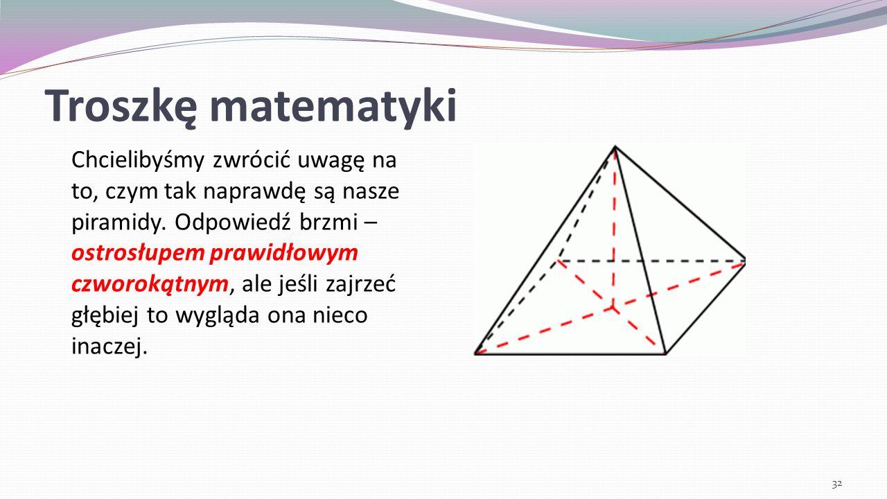 Troszkę matematyki