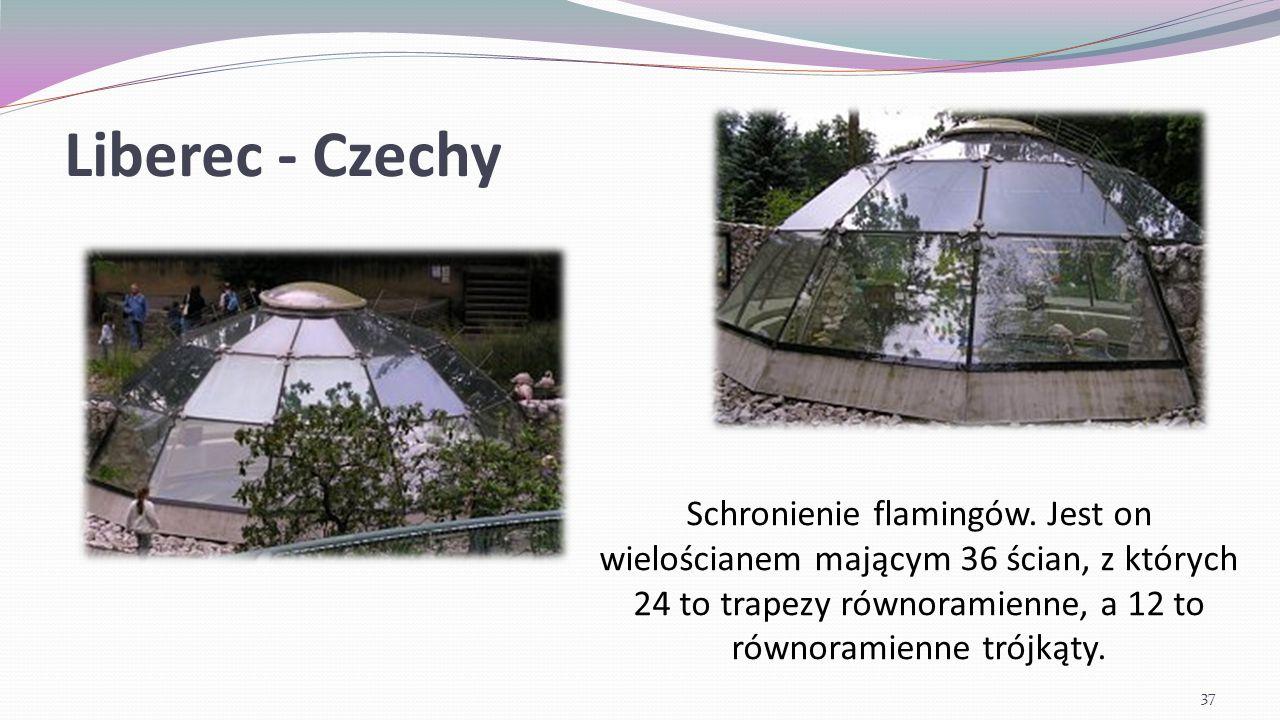Liberec - Czechy Schronienie flamingów.