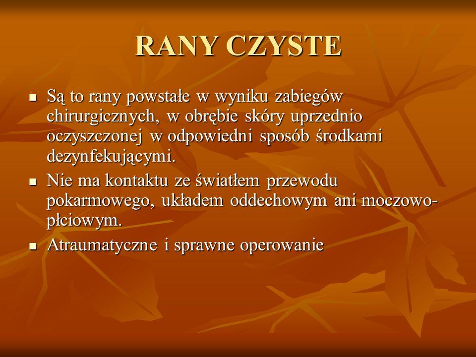 RANY CZYSTE