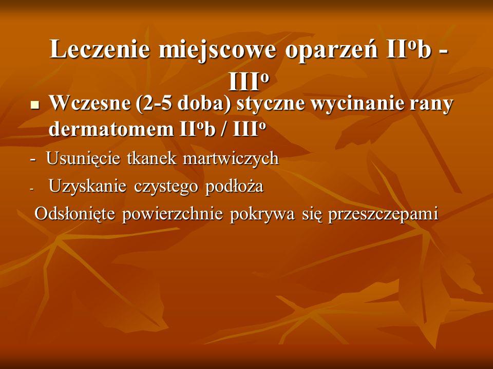 Leczenie miejscowe oparzeń IIob - IIIo