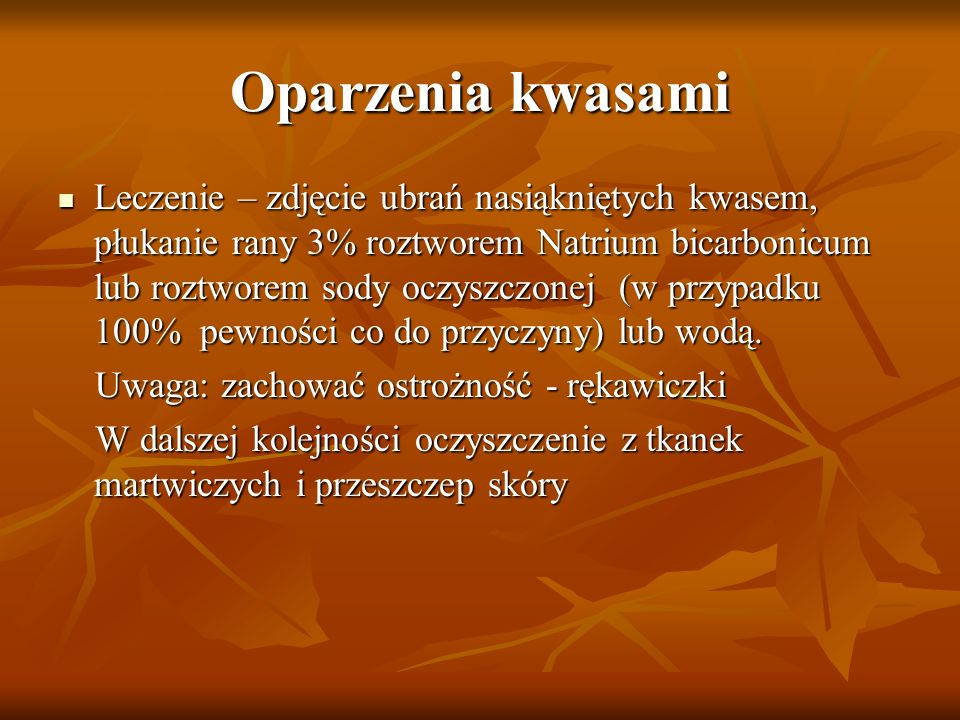 Oparzenia kwasami