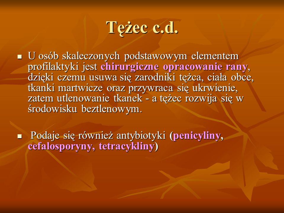 Tężec c.d.
