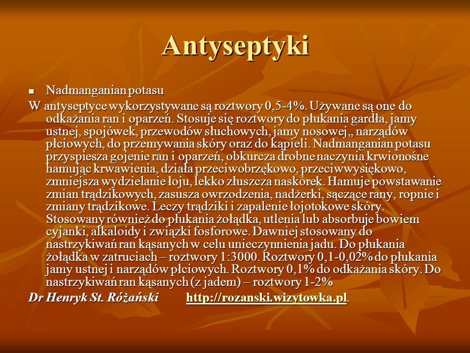 Antyseptyki Nadmanganian potasu